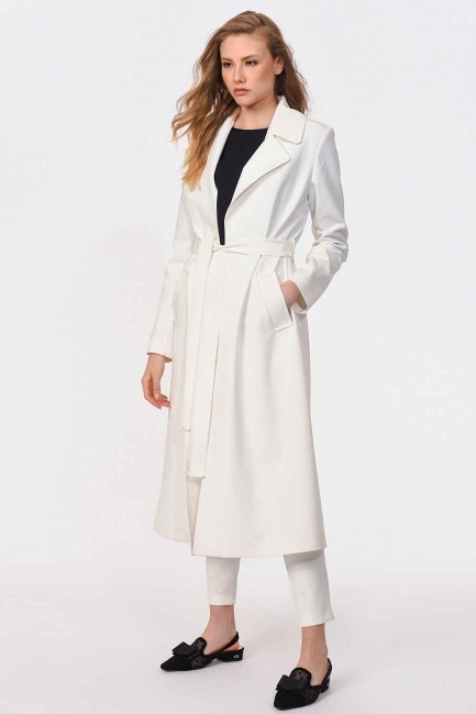 MIZALLE - Premium Luxury Trenchcoat (Ecru) (1)