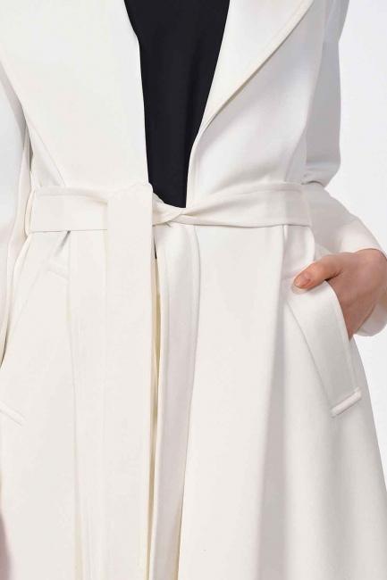 Premium Luxury Trenchcoat (Ecru) - Thumbnail