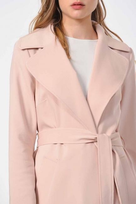 MIZALLE - معطف الخندق الفاخر(وردي فاتح) (1)