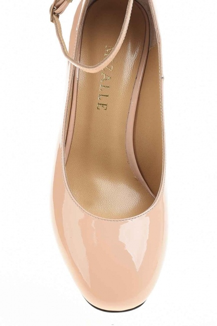 MIZALLE - Premium Tokalı Ayakkabı (Bej) (1)