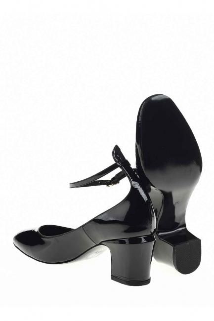 Premium Buckle Leather Shoes (Black) - Thumbnail