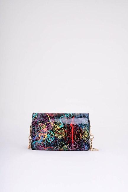 MIZALLE - Printed Color Shoulder Bag (Striped) (1)