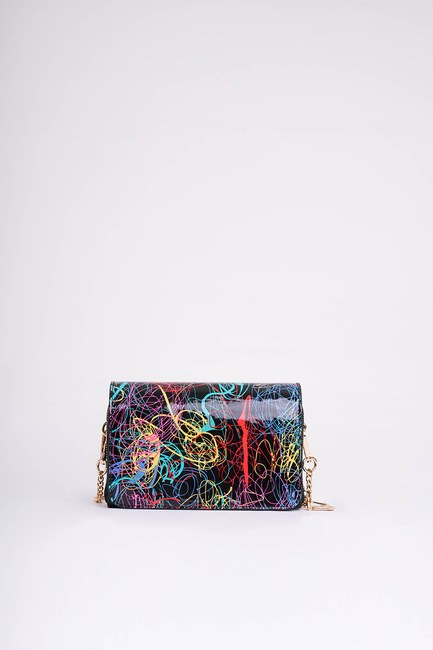 Mizalle - Printed Color Shoulder Bag (Striped) (1)