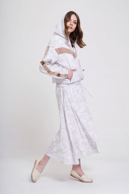 MIZALLE YOUTH - Printed Patterned Sweatshirt (Ecru/Beige) (1)