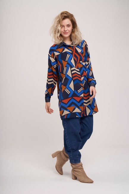 MIZALLE - Polka Dot Comfy Shirt (Patterned) (1)