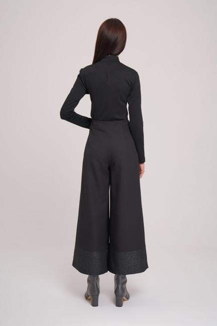 Pul Detaylı Pantolon (Siyah) - Thumbnail