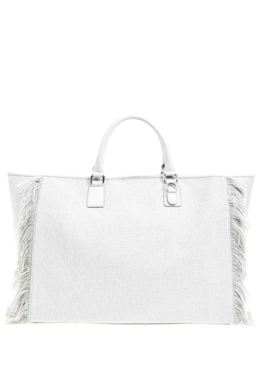 MIZALLE Tassel Detail Large Bag (Grey) (1)