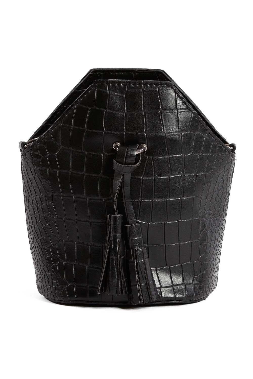 MIZALLE شرابة مفصلة ، مسامية ، حقيبة يد نسائية (أسود) (1)