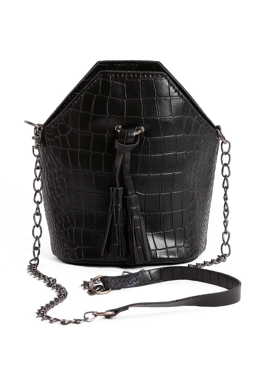 MIZALLE Tassel Detailed Women'S Handbag (Black) (1)