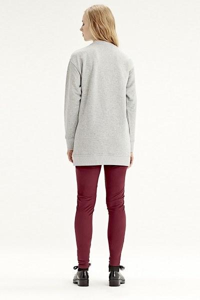 Fringe Detailed Sweatshirt (Grey) - Thumbnail