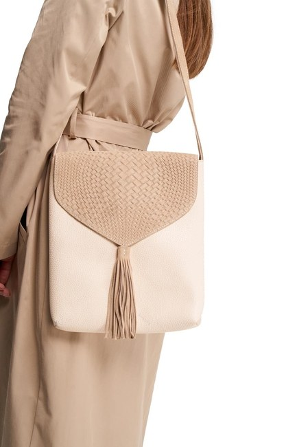 MIZALLE - Tassel Shoulder Bag (Beige) (1)