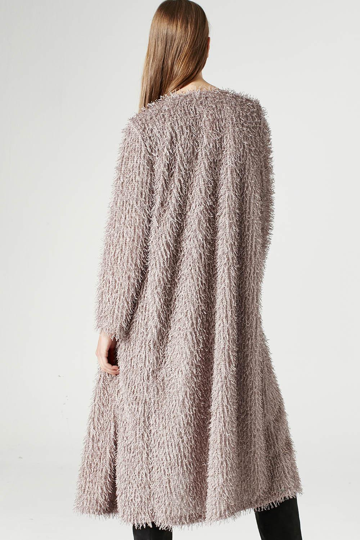 MIZALLE Tasseled Long Luxury Cardigan (Mink Color) (1)