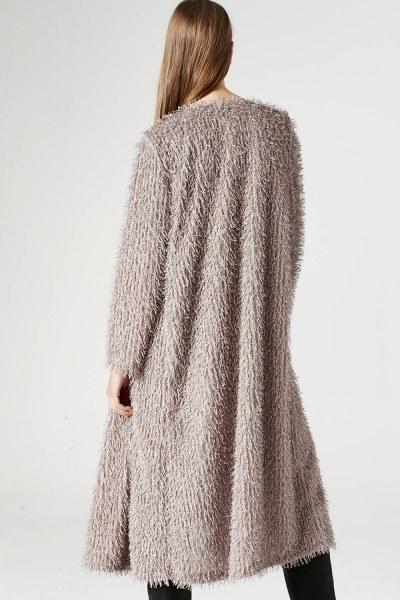 Tasseled Long Luxury Cardigan (Mink Color) - Thumbnail