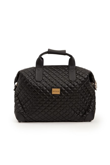 Mizalle - Quilted Large Shoulder Bag (Black) (1)