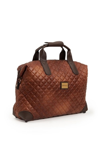 Quilted Large Shoulder Bag (Tan) - Thumbnail