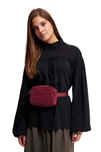 MIZALLE Quilted Shoulder and Waist Bag (Red)
