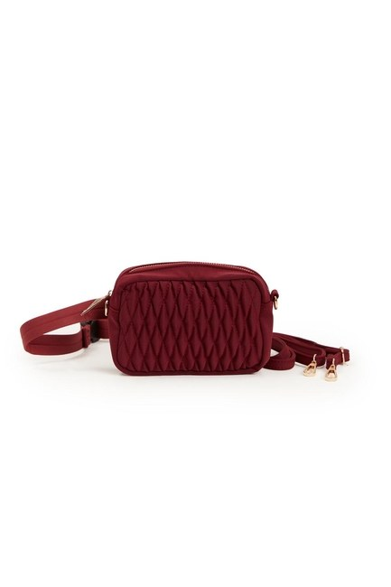 Quilted Shoulder and Waist Bag (Red) - Thumbnail