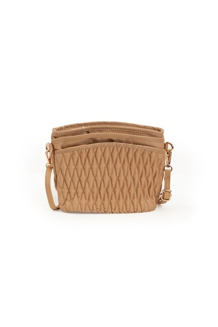 Mizalle - Quilted Shoulder Bag (Beige) (1)