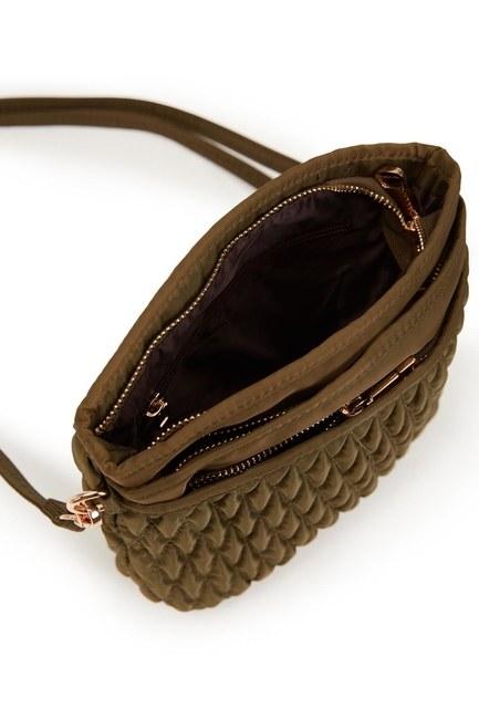 Quilted Shoulder Bag (Khaki) - Thumbnail