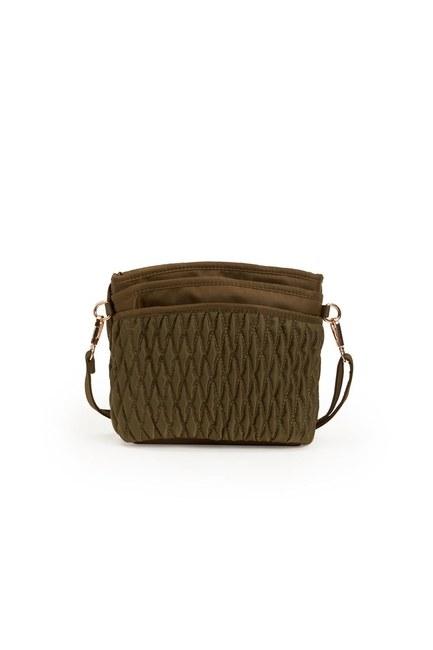MIZALLE - حقيبة كتف مبطن (كاكي) (1)