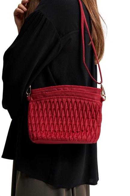 MIZALLE - حقيبة كتف مبطن (أحمر) (1)