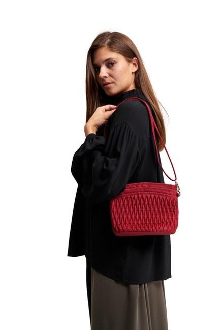 MIZALLE Quilted Shoulder Bag (Red)