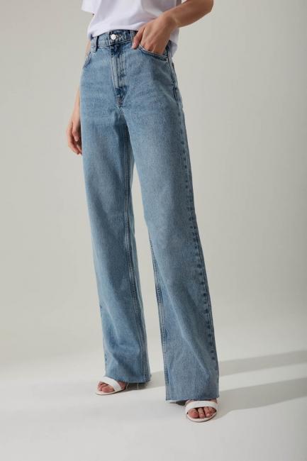 Rahat Kesim Denim Mavi Pantolon - Thumbnail