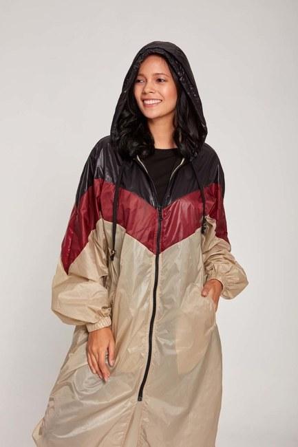 MIZALLE - معطف واق من المطر (البيج) (1)