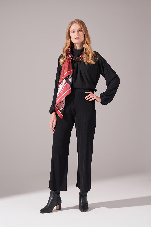 Rayon Basic Pantolon (Siyah)