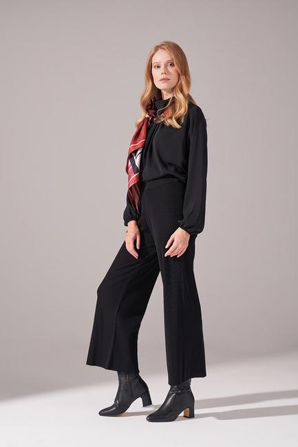 Mizalle - Rayon Basic Pantolon (Siyah)