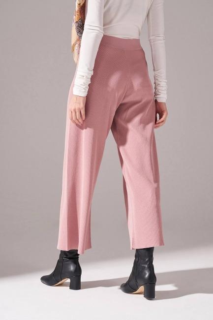 Rayon Basic Triko Pantolon (Pudra) - Thumbnail