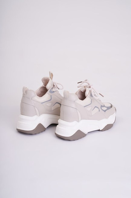 Mizalle - Reflective Sneakers (Beige) (1)