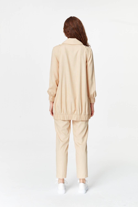 Regular Yaka Ceket (Bej)