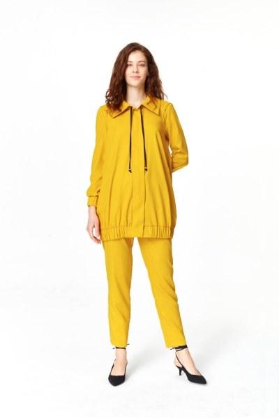 MIZALLE Regular Collar Jacket (Saffron)
