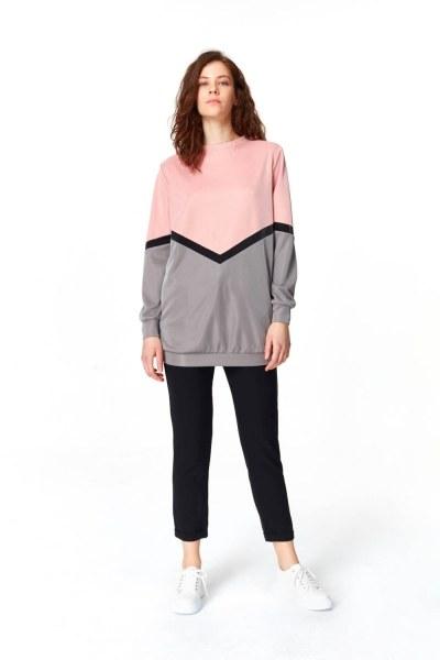 قميص ثقيل مع الألوان الانتقالية - Thumbnail
