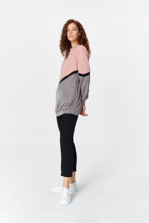 MIZALLE قميص ثقيل مع الألوان الانتقالية (1)