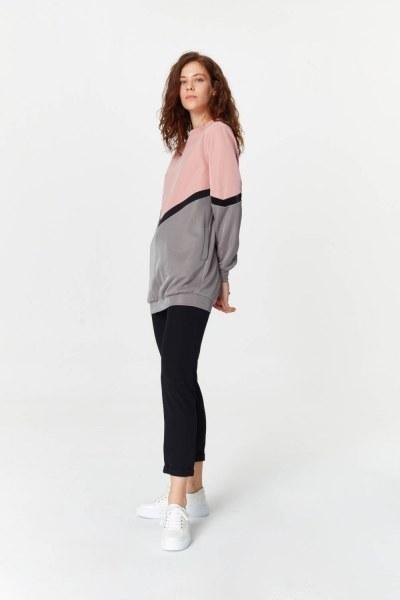 MIZALLE - قميص ثقيل مع الألوان الانتقالية (1)