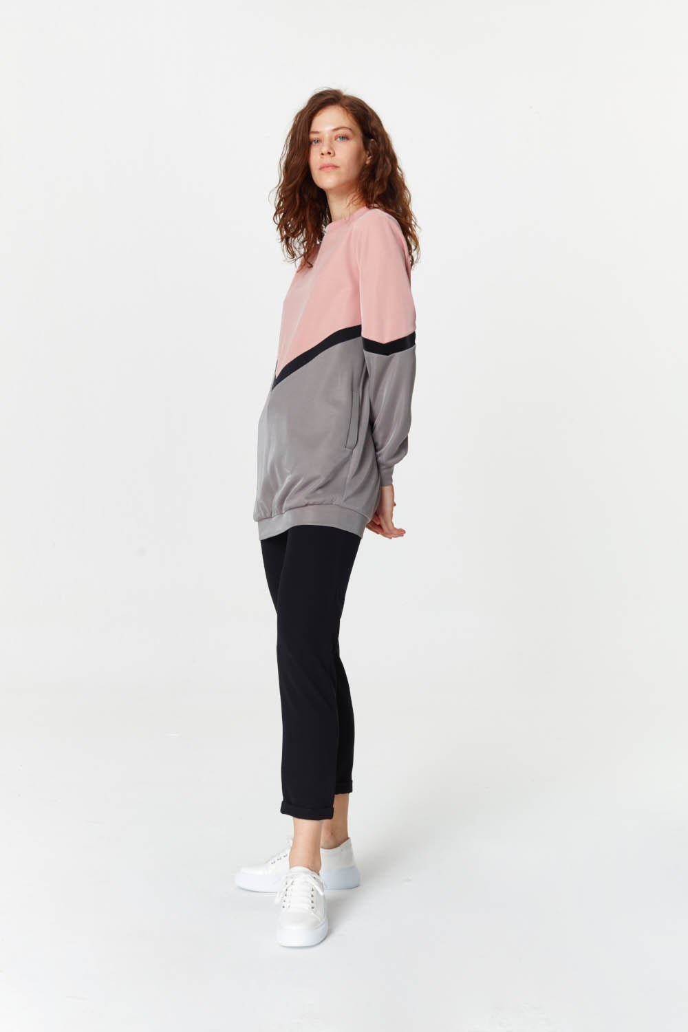 MIZALLE Colorful Sweatshirt (Mix) (1)