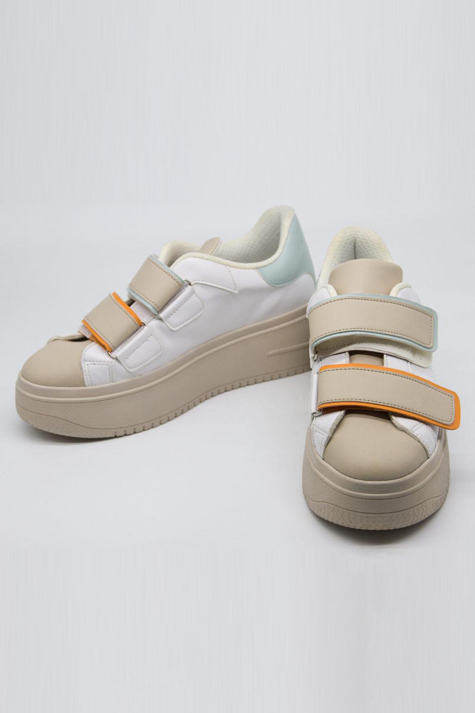 Renkli Cırt Bant Spor Ayakkabı