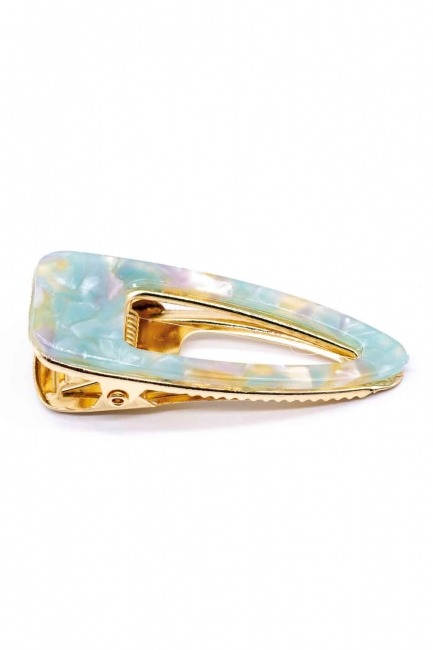 MIZALLE Colorful Snap Hair Clips (Mint)