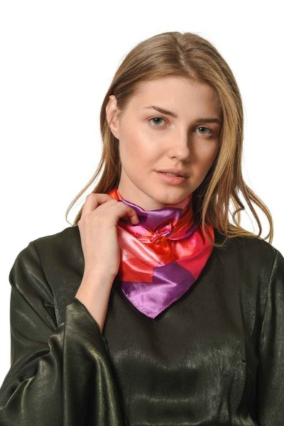 MIZALLE Colorful Satin Foulard (Mix)