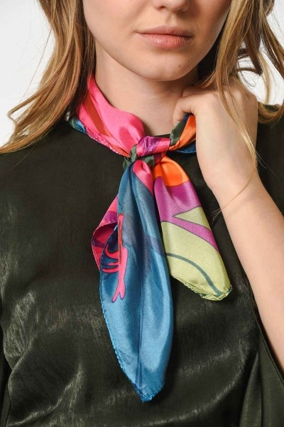 Colorful Satin Foulard (Mix) - Thumbnail