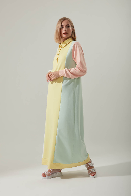 Renkli Sweat Elbise