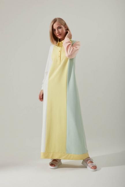 Mizalle - Renkli Sweat Elbise