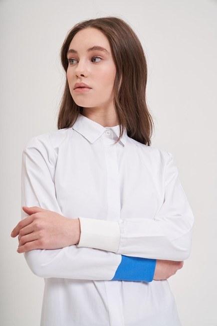MIZALLE YOUTH - Rib Detailed Shirt (Blue) (1)