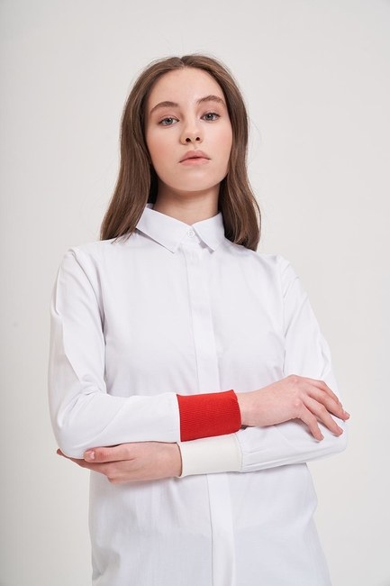 Ribana Detaylı Gömlek (Kırmızı) - Thumbnail