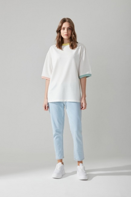 Basic Beyaz T-shirt - Thumbnail
