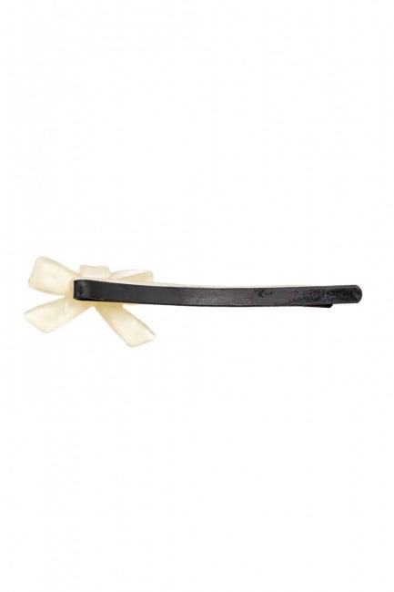 Ribbon Shaped Hair Clips (Ecru) - Thumbnail