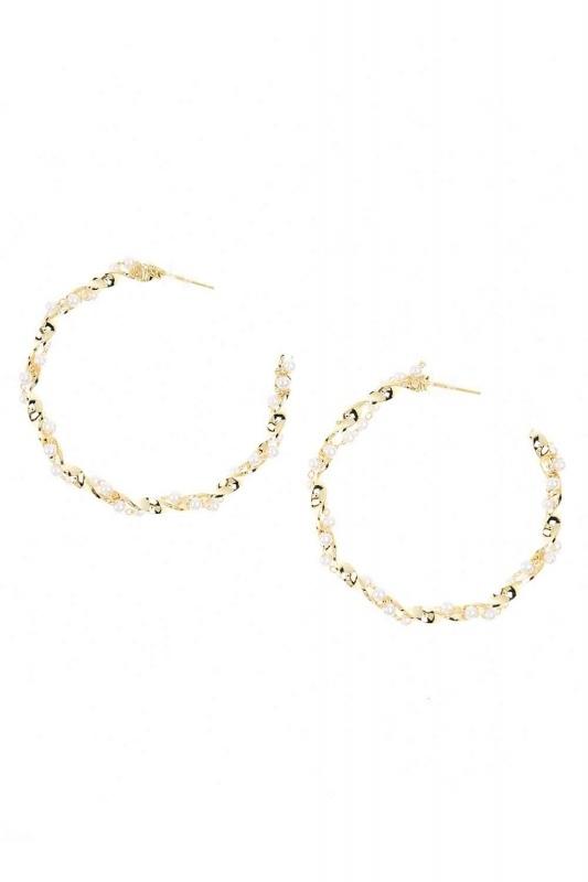 Ring Beaded Steel Earrings Thick (St)