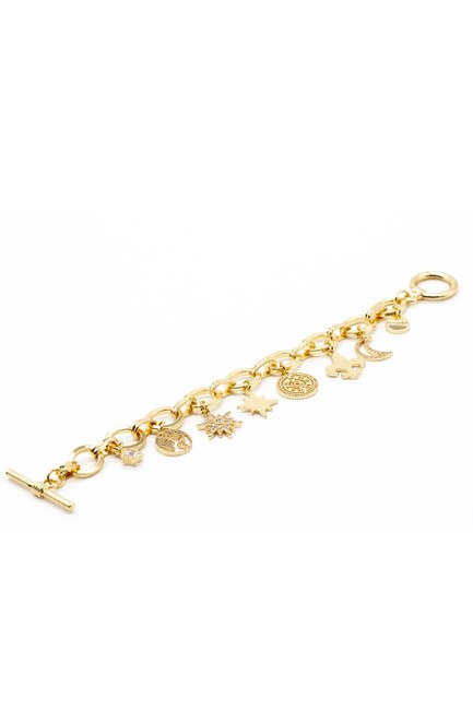 Mizalle - Ring Detailed Bracelet (Star) (1)